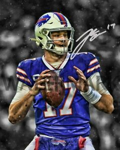 JOSH ALLEN AUTOGRAPH RP 8X10 PHOTO CUSTOM EDIT BUFFALO BILLS NFL PICTURE