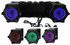 "Boss ATV30BRGB 6.5"" 450W ATV/Marine ATV Amplified Tube Speaker System w/Aux+LED"