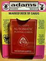 Deland's Automatic Playing Cards - Marked,Stacked & Stripped Plastic Coated Deck