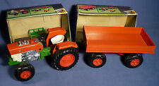 BULL 348 Massey Ferguson Traktor Tractor 362 Anhänger Trailer OVP boxed B171