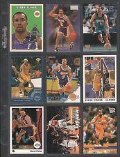 DEREK FISHER ~ Lot of (9) Different Basketball Cards w/ Display Sheet ~ (L274)