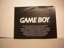 nintendo Game Boy Precautions Demploi  :,instruction, notice , booklet,manual