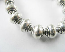 Karen Hill Tribe Silver 4 Shell Beads 8x9 mm.