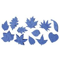 Roylco Art Sponges, Leaf Shapes, Pack of 12, Cornflower Blue