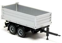 Herpa LKW Tandem Kipp Anhänger 3 Seiten Kipper silber neutral Modell 1:87 H0