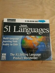 51 Languages instant immersion 3 CD-ROM set