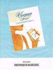 PUBLICITE ADVERTISING 045  1991   VOGUE   cigarettes superslims