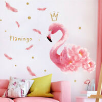 DIY Lovely Wall Sticker Removable PVC Pink Flamingo Wall Decals Art Stickers