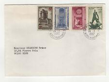 France 4 timbres sur lettre 1982 tampon Beaulieu-sur-Mer /L438