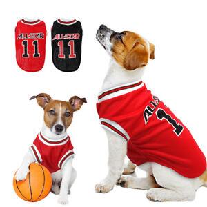 Small Black Dog Clothes Puppy Dog Sport T-shirt Soft Dog Coat Mesh Vest M-2XL