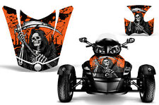 Can Am BRP RS Spyder Roadster Hood & Fender Graphic Kit Decal Wrap REAP ORANGE