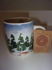 Boyds Collection Christmas Trees Coffee Mug Cup Bearware Pottery Works