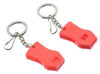 2Pc Raptor Whistle Key Chain Zipper Emergency Survival Whistle