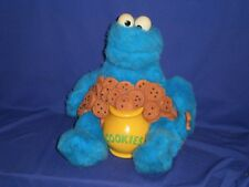 Vintage Story Magic Cookie Monster Sesame Street Interactive Toy Ideal 1987 12in