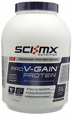 SCI-MX Nutrition PRO V-GAIN PROTEIN 2.2kg Chocolate - Advanced plant-base... NEW