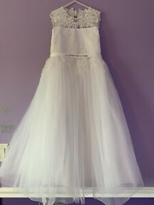 First Communion/Flower girl White dress Sz 8-9