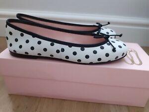 Pretty Ballerinas Suede Ballet Spotty Pumps / Shoes Size EU 37 UK 4