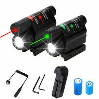 1000LM linterna LED láser Combo rojo/verde punto para adaptarse 20mm weaver Rail