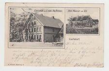 AK GARLSTORF  Gasthaus zur Linde Alter Meierhof Kutsche Fahrrad  1904  gelaufen