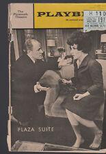 Plaza Suite Playbill December 1968 Maureen Stapleton Robert Gerlach
