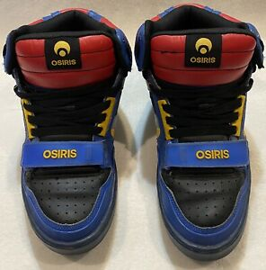 **RARE** OSIRIS TRANZOR Multicolor Skate Shoes Sneakers - Mens Size 10.5