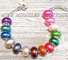 10 Color Pearl European Beads Large Hole Acrylic Charms DIY Bracelets Necklaces