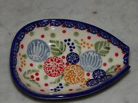 Polish Pottery Kitchen Spoon Rest! UNIKAT Signature Paper Lantern Pattern!