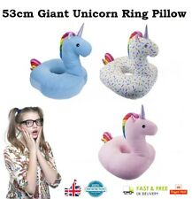 53cm GIANT UNICORN RING PILLOW My Little Pony Plush Cuddly Cushion Kids Chair UK