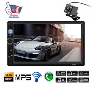 """7"""" HD Car Stereo Radio MP5 Player 2DIN Bluetooth Touch Screen With Rear Camera A"""