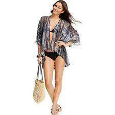 NWT Raviya Crochet Back Kimono Sheer Swimsuit Cover Up Sz S/M i13