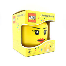 [LEGO] BPA Free Yellow Brick Storage Head Small Bin Container Carrying case_Girl