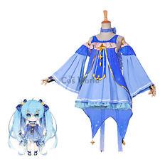 2017 Snow Vocaloid Hatsune Miku Dress Uniform Outfit Cosplay Costume
