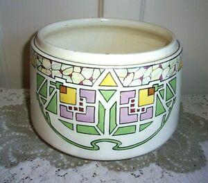 1900 Roseville Ceramic Designs Ivory Geometric Pattern Jardinière 510 - RARE