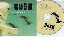 BUSH The Science Of Things Album Sampler 1999 UK 6-track promo CD