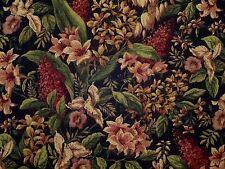 Mill Creek Raymond Waites POLYNSIA EBONY Black Floral Home Decor Drapery Fabric