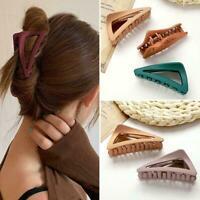 Women Hair Claw Clamps Large Hair Clips Matte Shark Hairpins Fashion A5R6