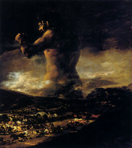The Colossus by Francisco de Goya Fine Art Giclee Canvas Print