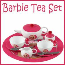 13 Piece Barbie Themed Kids Tea Party Child Play Set Cups, Teapot etc Toy New
