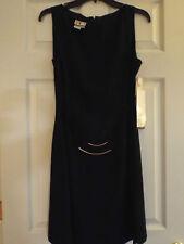 D W 3  David Warren 100% Polyester, Solid Little Black Dress  Sleeveless - SZ 10