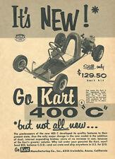 "Vintage & Very Rare 1960 Go-Kart 400 ""C"" Go-Kart Ad"