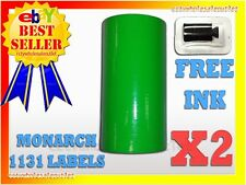 2 Sleeves Fluorescent Green Label For Monarch 1131 Pricing Gun 2 Sleeves16rolls