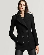 Burberry Brit Tumblebridge Pea Coat Jacket size 14(EU48) $795 BNWT