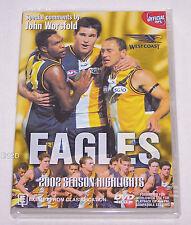 West Coast Eagles AFL 2002 Season Highlights DVD New
