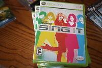 Disney Sing It (Xbox 360, 2008) Brand New