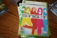Disney Sing It (Xbox 360, 2008) Brand New