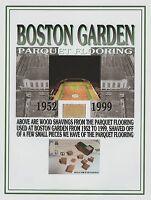 BOSTON CELTICS Historic Boston Garden Parquet Wood Shavings, NBA basketball item