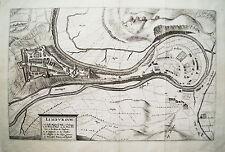 Limbourg Limburg Lüttich Verviers Belgien alter Merian Kupferstich 1650