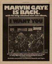 "1976 MARVIN GAYE ""I WANT YOU"" ALBUM PROMO AD"