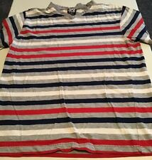 Men's ENYCE Short Sleeve Striped VNeck T-Shirt Size M