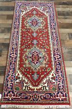 "2'7""x6' New hand knotted wool super Serapi Heriz Oriental Geometric rug runner"